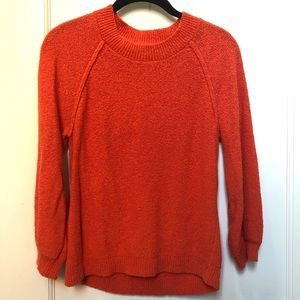 Loft Pumpkin Orange Raglan Sweater